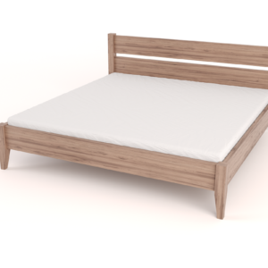 Tapered Bed with Headboard – King
